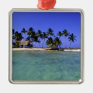 Ranguana Caye, Belize Silver-Colored Square Decoration