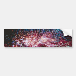 Ranibow-fireball-quills fireworks bumper sticker