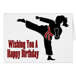 Rank Belt Girl Happy Birthday Card