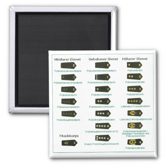Rank insignia police Germany Magnet