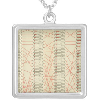 Rank of cities silver plated necklace