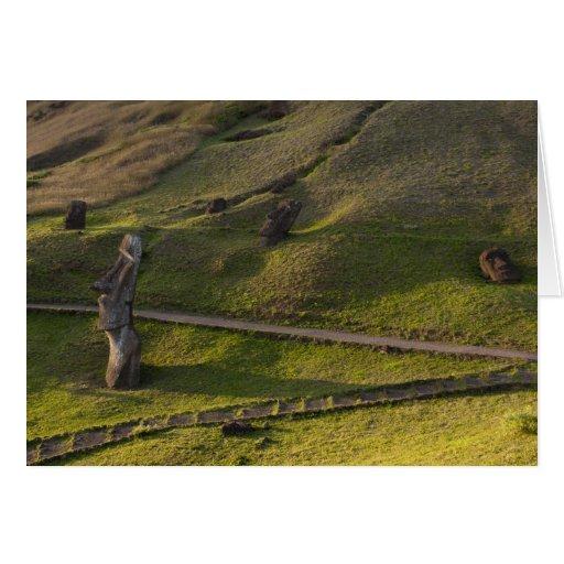 Rano Raraku, Rapa Nui, Easter Island, Chile Greeting Card