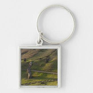Rano Raraku, Rapa Nui, Easter Island, Chile Silver-Colored Square Key Ring
