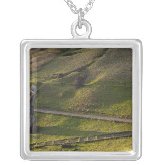 Rano Raraku, Rapa Nui, Easter Island, Chile Silver Plated Necklace
