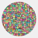 Ransom Note Classic Round Sticker