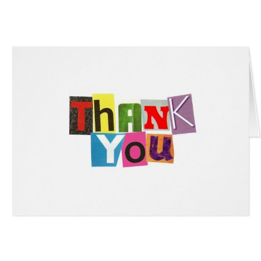 Ransom Note Thank You Notecards Cards