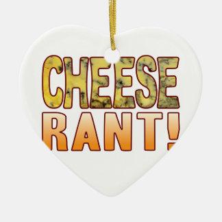 Rant Blue Cheese Ceramic Heart Decoration