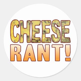 Rant Blue Cheese Round Sticker