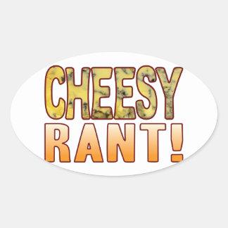Rant Blue Cheesy Oval Sticker