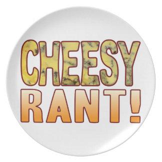 Rant Blue Cheesy Party Plates