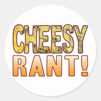 Rant Blue Cheesy Round Sticker