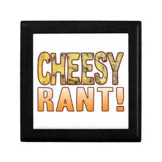 Rant Blue Cheesy Small Square Gift Box
