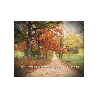 Raod Less Traveled canvas Stretched Canvas Print