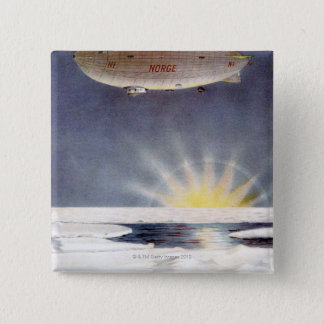 Raold Amundsen's airship Norge over North Pole 15 Cm Square Badge