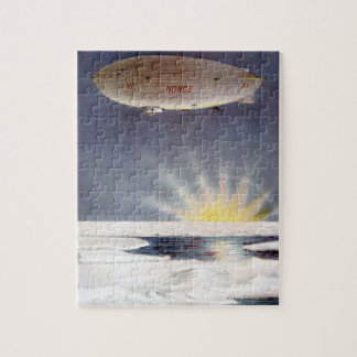 Raold Amundsen's airship Norge over North Pole Jigsaw Puzzle