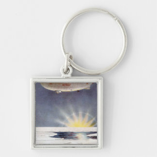 Raold Amundsen's airship Norge over North Pole Key Ring