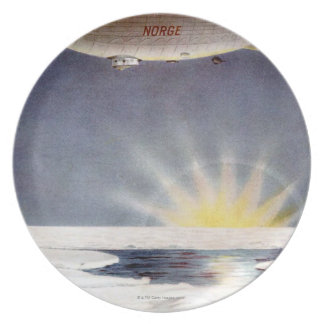 Raold Amundsen's airship Norge over North Pole Plate