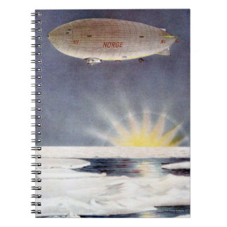 Raold Amundsen's airship Norge over North Pole Spiral Notebook