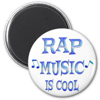 Rap is Cool 6 Cm Round Magnet