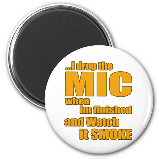 Rap music t shirt refrigerator magnets