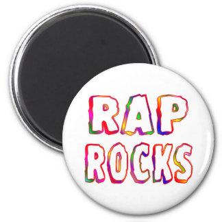 Rap Rocks 6 Cm Round Magnet