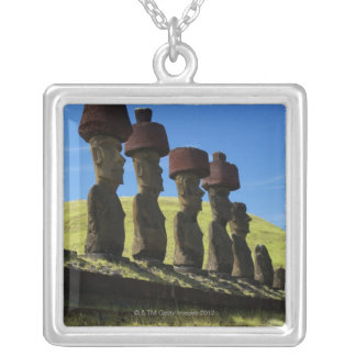 Rapa Nui artifacts, Easter Island Silver Plated Necklace