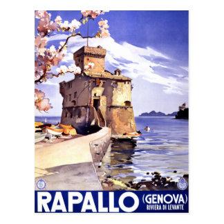 Rapallo Genova Italy Vintage Travel Poster Postcard