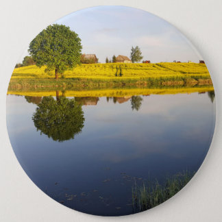 Rapeseed field 6 cm round badge