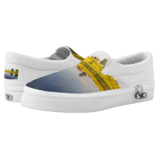 Rapeseed field slip on shoes