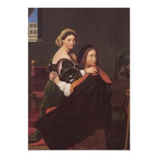 Raphael and the Fornarina fine art 13 Cm X 18 Cm Invitation Card