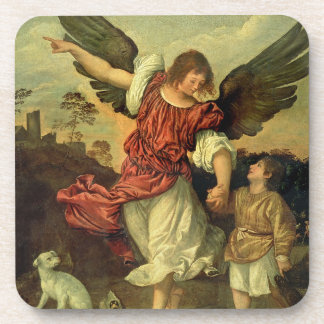 Raphael and Tobias, 1507-8 (oil on panel) Coasters