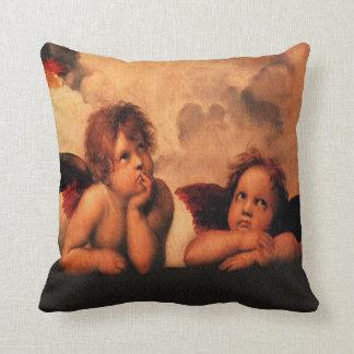 Raphael Angelic Cherubs Throw Pillow