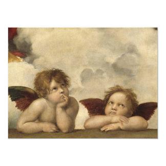 Raphael Angels 17 Cm X 22 Cm Invitation Card