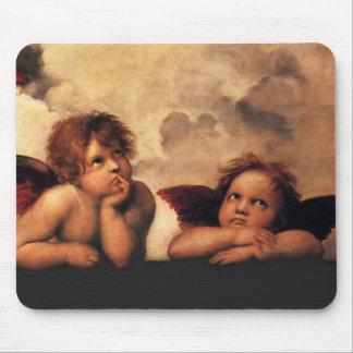 Raphael Cherubs Sistine Madonna 2 Angels Mouse Pad