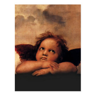 Raphael Cherubs Sistine Madonna 2 Angels Postcard