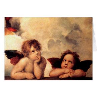 Raphael Cherubs Sistine Madonna Greeting Card