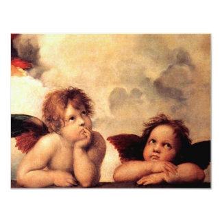 "Raphael Cherubs Sistine Madonna Invitations 4.25"" X 5.5"" Invitation Card"
