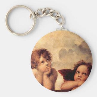 Raphael Cherubs Sistine Madonna Key Chain