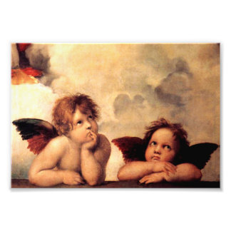 Raphael Cherubs Sistine Madonna Photo Print