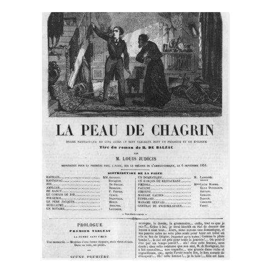 Raphael de Valentin and the shopkeeper Postcard