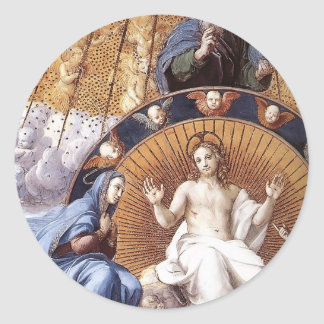 Raphael:Disputation of the Holy Sacrament (detail) Round Stickers
