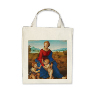 Raphael: Madonna in the Meadow Tote Bag