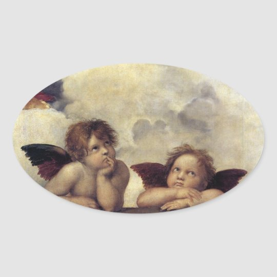 Raphael: Putti, Detail from the Sistine Madonna Oval
