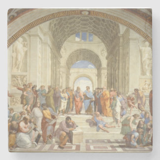 Raphael's The School of Athens Stone Coaster