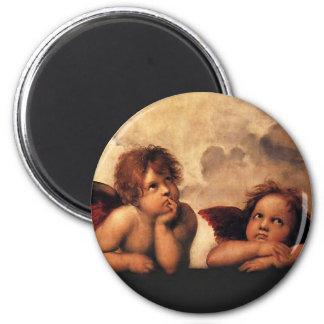 Raphael Sanzio - Angels (Detail) 6 Cm Round Magnet
