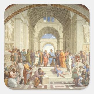 Raphael - School of Athens Square Sticker