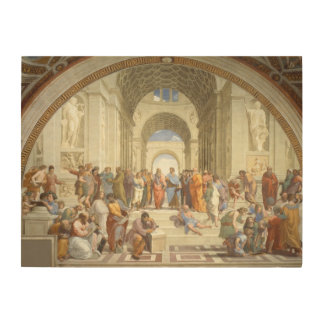 Raphael - School of Athens Wood Wall Art