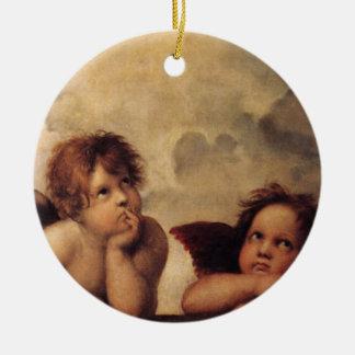 Raphael,Sistine Cherub Christmas Ornament