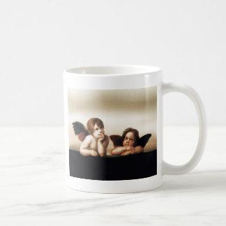 Raphael Sistine Madonnas Cherub Version 2 Classic White Coffee Mug