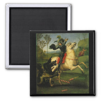 Raphael St George Fighting the Dragon Art Magnet